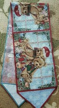 "Christmas Table Runner Tapestry Teddy Bears 13"" x 69"" Free Shipping - $16.82"