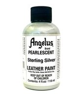 Angelus Pearlescent Leather Acrylic Paint (4 oz, Sterling Silver) - $9.42