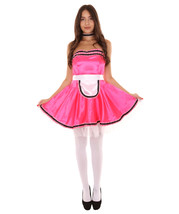 Adult Women's French Maid Uniform Costume   Dark Pink Cosplay Costume - $23.85