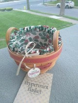 Longaberger 1999  RED Peppermint Basket Combo - liner protector etc - $22.00