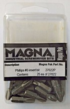 "Magna 3AE62 Phillips #3 Insert Bits 1/4"" Hex 27022P 25 Pack USA - $3.96"