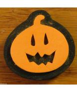 Halloween Rubber Stamp Foam Mount Pumpkin Jack-o-lantern Holiday NEW - $1.50