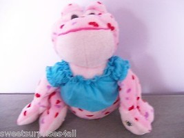 "Plush LOVE Frog hearts all over Ganz Wearing Webkinz Tagged Shirt 7"" NO ... - $19.80"
