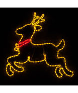 Gold led reindeer motif 3244 thumbtall