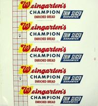 Vintage bread wrapper WEINGARTENS CHAMPION Houston Texas unused new old ... - $9.99