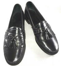 G.H. Bass Mens Size 10 M Loafers Black Leather Kilti Tassel Casual Dress Shoes - $44.87