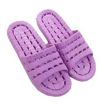 PANDA SUPERSTORE Women Purple Hollow Non-Slip Shower Slippers Summer Home Sandal