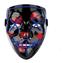 Yostyle Halloween Scary Mask Cosplay Led Costume Mask EL Wire Light up f... - $18.89