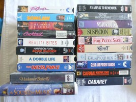 lot of 20 VHS tapes SEE PICS Bin  #9 - $31.75