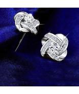 925 Silver Jemmin Crystal Earrings Women Brincos Bijoux Wedding Jewelry - $18.42