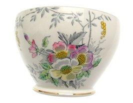 c1935 Sampson Smith Old Royal Pastel Floral 3000 Sugar Bowl - $38.21