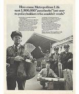 Mailman Mail Shoulder Bag Postman US Postal Carrier Met Life 1965 Photo AD - $12.99