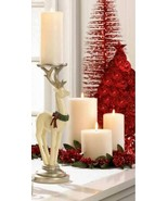 10018521 Christmas Collection White Reindeer Candleholder - $33.56
