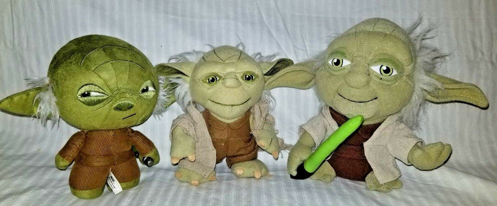 Star Wars Yoda Plush Dolls. Lot of 3