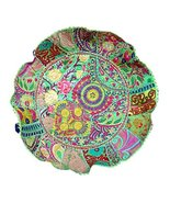 Rastogi Handicrafts Meditation Pillow - Indian Pouf Organic Cotton - Old... - $26.24