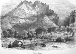 WEST VIRGINIA Seneca Cliffs - 1883 German Print - $16.20