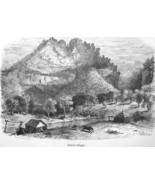 WEST VIRGINIA Seneca Cliffs - 1883 German Print - $16.20