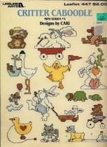 Critter Caboodle Mini Series #5 in Cross Stitch Leisure Arts 447 Vtg 1986 - $2.96