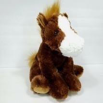 "Aurora Horse Plush Brown Stuffed Animal 13"" Chestnut Equine Pony Clydesd... - $21.77"