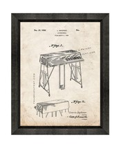 Accordionola Patent Print Old Look with Beveled Wood Frame - $24.95+