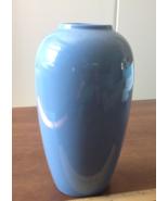 "Vase 10"" Tall Plain Blue Glazed Vase Clean No Obvious Flaws Vintage - $20.32"