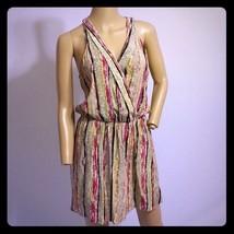 Parker Stripe Print Silk Racerback SLip Dress S - $56.99