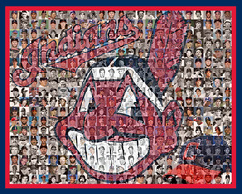 Cleveland Indians Mosaic Print Art Designed using over 200 Inidans Playe... - $42.00+