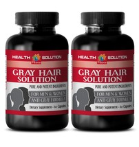 hair vitamin natural - ANTI GRAY HAIR FORMULA 1350MG 2B - saw palmetto w... - $23.33