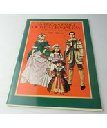 Vintage 1983 Paper Doll Book In Full Color American Family Of The Coloni... - $12.00