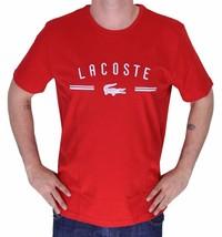 BRAND NEW LACOSTE LOGO MEN'S PREMIUM COTTON CREW NECK SHIRT T-SHIRT TEE RED