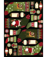 """Santa's Gifts"" Panel-South Seas Imports-Christmas Stockings-Gift Tags-Ornaments - $5.95"