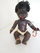"""Vintage 13"""" Composition Black African Baby Made in Italy - $58.99"""
