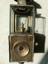 Victorian Antique Brass Buggy Carriage Kerosene Oil Lamp Lantern Light w... - $59.99