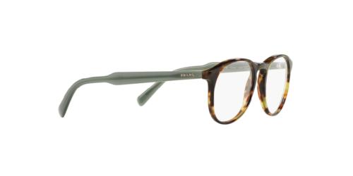 Prada Eyeglasses Optical PR19SV LAB-1O1 Green Havana 48mm w/Case