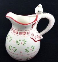 Temptations by Tara Angel Christmas Pitcher 2 Quart Ceramic Holly Berries  - €52,03 EUR