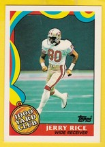 Jerry Rice 1000 Yard Club 1989 Topps #5 San Francisco 49'ERS - $1.98
