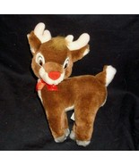 "10"" APPLAUSE VINTAGE RUDOLPH THE RED NOSED REINDEER STUFFED ANIMAL PLUSH TOY - $16.83"