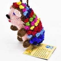 Handknit Alpaca Wool Whimsical Hanging Porcupine Ornament Handmade in Peru image 2