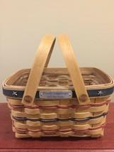 Longaberger 2002 Bee Basket All American Patriotic Mini Market Basket + Protect! - $50.71