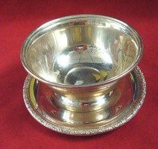 Prelude by International Sterling Silver Dip Bowl w/ Underplate - $325.00