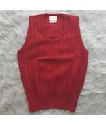 Gepner Sportswear Mens Sz Medium Burgundy Red Vest 100% Virgin Acrylic EUC - $4.99