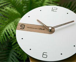 Moro Design Real Wood Nine Wall Clock non Ticking Silent Modern Clock (Simple) image 4
