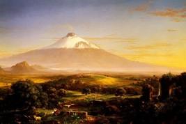 Mount Etna Volcano Sicily Italy Italian Landscape Painting By Thomas Cole Repro - $10.96+