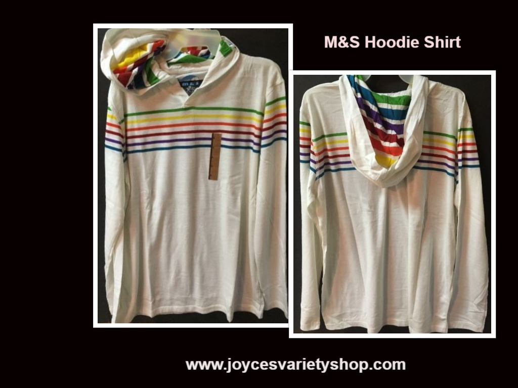 M s white striped hoodie shirt web collage