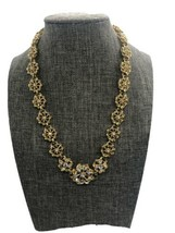 Vintage Stunning Yechang Goldtone Rhinestone Necklace - See Description - £15.77 GBP