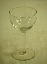 Elegant Clear Glass Cordial Stemware Glass Barware Unknown Maker - $12.86