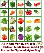 Heirloom Vegetable, All In 1, Vegetables Seeds, Fruit Seeds, Herb Seeds,... - $29.96