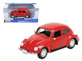 1973 Volkswagen Beetle Red 1/24 Diecast Model Car by Maisto - $31.66