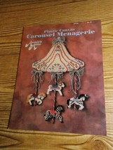 """Carousel Menagerie""  Plastic Canvas Booklet 87P29 Annie's Attic 1993  - $2.25"