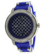 Over Size Bezel Ice Out Watch with Rubber Bullet Band by Techno Pave - $18.61